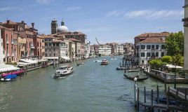 Venice, Italy - boats and buildings. This image is showing one of the canals in Venice, Italy. It was taken in June 2017 on a sunny day. You can see beautiful Royalty Free Stock Image