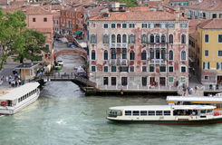 Venice, Italy, boats and buildings on the water Stock Images