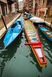Venice, Italy. Boats on Venice canal, Italy Royalty Free Stock Image