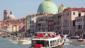 Venice, Italy, Boats passing stock video footage