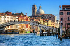 Venice, Italy. Bridge over Grand Canal in Venice, Italy stock image