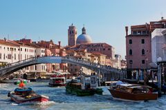 Venice, Italy. A bridge over Grand Canal Stock Photo