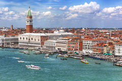 Venice Italy. Venice, Italy, on a bright summer day. San Marco crowded with tourists stock photography