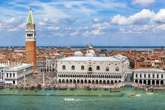 Venice Italy. Venice, Italy, on a bright summer day.  San Marco crowded with tourists Stock Images