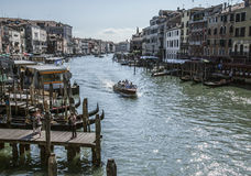 Venice, Italy - buildings and a canal. Stock Image