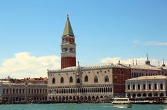 VENICE Italy Campanile of Saint Mark and Ducal Palace photograph Royalty Free Stock Image