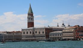 VENICE Italy Campanile of Saint Mark and Ducal Palace photograph Royalty Free Stock Photo
