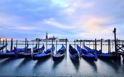 Venice. Italy, Venice, canal clouds gondola Stock Photography