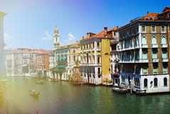 Venice italy canal Stock Images