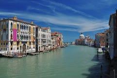 Venice, Italy. Canal Grande view, blue sky. Stock Photos