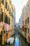 Venice, Italy. Canal and houses in the water city Stock Photography