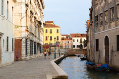 Venice.Italy. The canals of Venice as the city streets Royalty Free Stock Photos