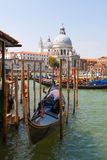 Venice. Italy. Italy.Venice.The Canals Of Venice.Gondola floating in the channel Stock Photo