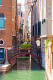 Venice. Italy. Italy.Venice.The Canals Of Venice.Gondola floating in the channel Royalty Free Stock Photos