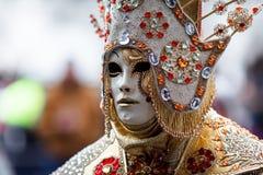 Venice, Italy. Carnival of Venice, beautiful masks at St. Mark`s Square royalty free stock photo