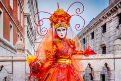 Venice, Italy - Carnival in Piazza San Marco royalty free stock photography