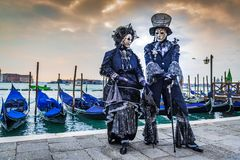 Venice, Italy - Carnival in Piazza San Marco royalty free stock images