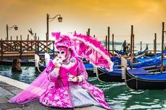 Venice, Italy - Carnival in Piazza San Marco stock photo