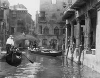 Venice, Italy, circa 1920s. (All persons depicted are no longer living and no estate exists. Supplier grants that there will be no model release issues royalty free stock photos