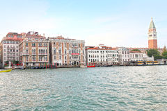 VENICE,ITALY-CIRCA JUNE 2012:Canal Grande and la Biennale buildi Stock Photos