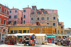 VENICE,ITALY-CIRCA JUNE 2012:Street market in San Polo district Royalty Free Stock Photo