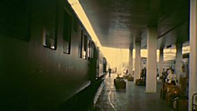 Archival Venice Santa Lucia train station stock footage