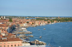Venice. Italy coastline view from above Stock Photography