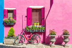 Venice, Italy. Colorful houses in Burano island near Venice, Italy Stock Photography