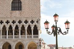 Venice, Italy. Corner view of the Dodge Palace on the St. Marco square in Venice, Italy Stock Photos