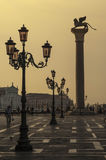 VENICE/ITALY  Dawn in San Marco Square Stock Photo
