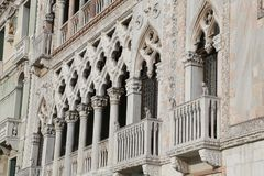 Venice, Italy - December 31, 2015: fabulousness architectonic  d Royalty Free Stock Photography