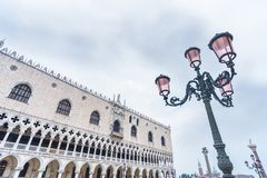 Venice, Italy. Doge`s Palace on San Marco square, Venice, Italy Royalty Free Stock Photography