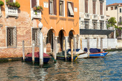 VENICE, ITALY/EUROPE - OCTOBER 12 : Boats moored in Venice Italy Stock Image