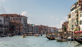 VENICE, ITALY/EUROPE - OCTOBER 12 : Busy Grand Canal in Venice I Royalty Free Stock Photo