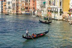 VENICE, ITALY/EUROPE - OCTOBER 12 : Gondoliers plying their trad Stock Image