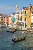VENICE, ITALY/EUROPE - OCTOBER 12 : Gondoliers plying their trad Stock Photos