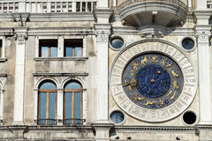 VENICE, ITALY/EUROPE - OCTOBER 12 : St Marks Clocktower in Venice Italy on October 12, 2014 royalty free stock image