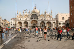 VENICE, ITALY/EUROPE - OCTOBER 26 : View of Basilica di San Marc Royalty Free Stock Photo