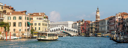 VENICE, ITALY/EUROPE - OCTOBER 12 : View towards the Rialto Brid Royalty Free Stock Photo