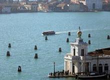Venice Italy famous monument called Punta della Dogana Stock Photos