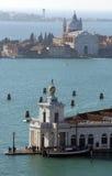 Venice Italy famous monument called Punta della Dogana Stock Image