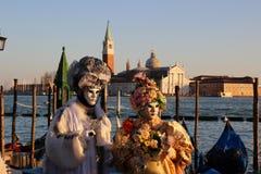 VENICE, Italy - FEBRUAR 24, 2014: Carnival in Venice - one of popular carnival in Europe. Stock Photos