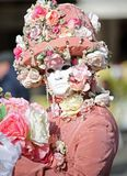 Venice, Italy - February 5, 2018: person with carnival dress and Stock Photography