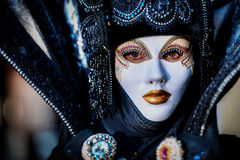 Free VENICE, ITALY - FEBRUARY 8: Unidentified Person In Venetian Mask Royalty Free Stock Photo - 34890855