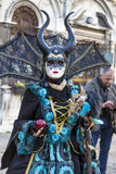 VENICE, ITALY - February 25, 2017:  devil  mask at St Mark square,  Carnival of Venice Royalty Free Stock Photos