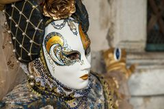Venice, Italy - February 5 2018 - The Masks of carnival 2018. The Carnival of Venice Italian: Carnevale di Venezia is an annual festival held in Venice, Italy Stock Photo