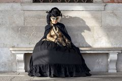 Venice, Italy - February 5 2018 - The Masks of carnival 2018. Royalty Free Stock Photos