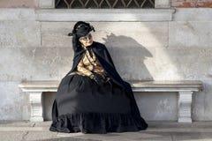Venice, Italy - February 5 2018 - The Masks of carnival 2018. Stock Photos