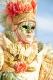 Venice, Italy - February 5 2018 - The Masks of carnival 2018. Royalty Free Stock Image