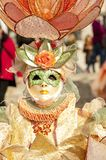 Venice, Italy - February 5 2018 - The Masks of carnival 2018. Royalty Free Stock Images